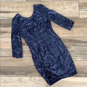 HEARTLOOM Blue Sequin Dress